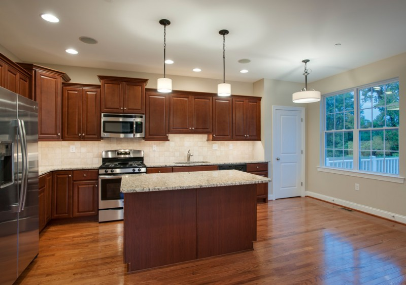Saddlebrook Estates for Transitional Kitchen with Multi Light Pendant