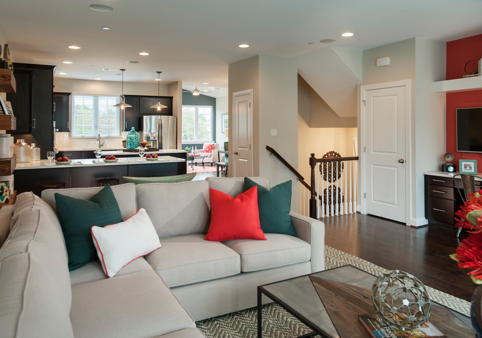 Saddlebrook Estates for Transitional Spaces with Coffee and Side Tables