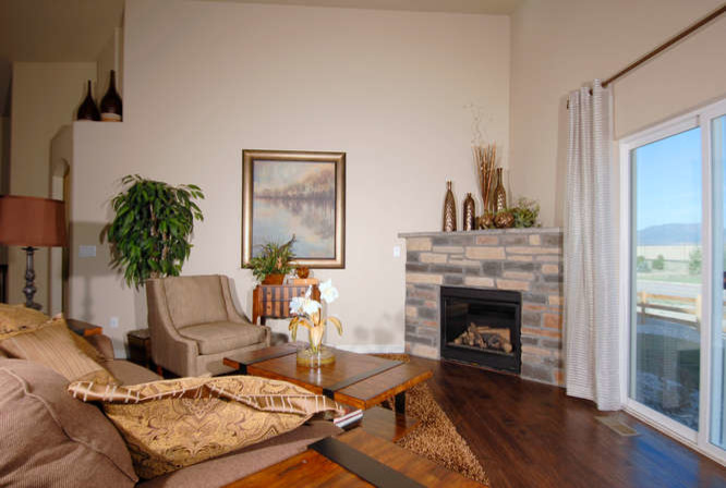 Saint Aubyn Homes for Traditional Family Room with New Homes in Colorado