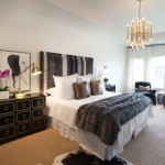 Sallys Store for Transitional Bedroom with Ombre Headboard