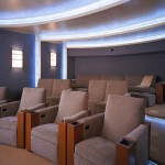 San Marcos Theater for Contemporary Home Theater with Wall Sconces