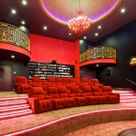 San Marcos Theater for Mediterranean Home Theater with Built in Bookcases