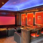 San Marcos Theater for Traditional Home Theater with Hanging Counter Stool