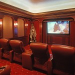 San Marcos Theater for Traditional Home Theater with Leather Recliner