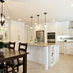 Sandlin Homes for Transitional Kitchen with White Cabinets