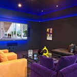 Santa Barbara Back Page for Eclectic Home Theater with Cove Lighting