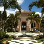 Sater Design for Mediterranean Exterior with Lawn