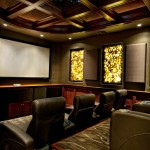 Sater Design for Mediterranean Home Theater with Luxury