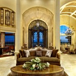 Sater Design for Mediterranean Living Room with Luxury