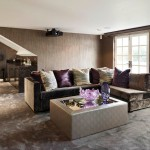 Saxony Carpet for Contemporary Home Bar with Drinks Cabinet