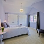 Saxony Carpet for Modern Bedroom with Lavender