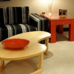 Schmitt Furniture for Contemporary Living Room with Sycamore Coffee Table