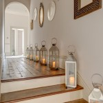 Scotch Hall Preserve for Shabby Chic Style Hall with Hurricane Lanterns