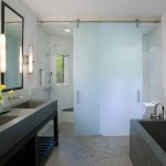 Seamless Sf for Contemporary Bathroom with Glass Wall