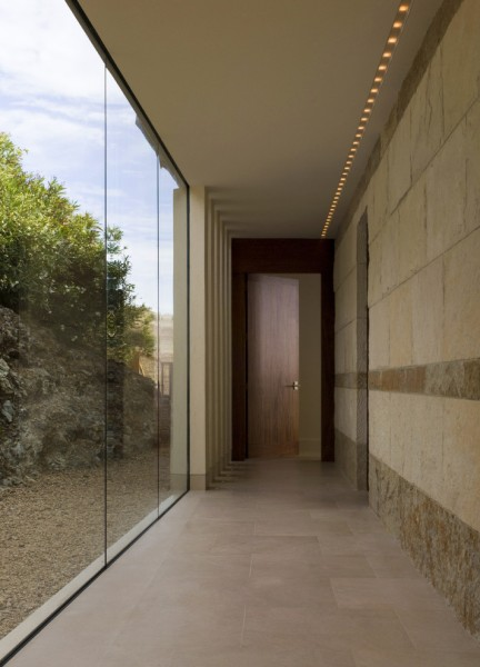Seamless Sf for Modern Hall with Stone Wall