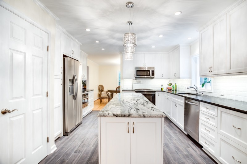 Sears Annapolis for Transitional Kitchen with White Kitchen