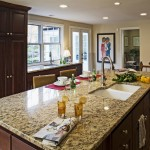 Sensa Granite for Traditional Kitchen with French Doors