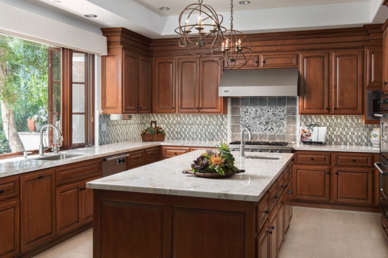 Shady Canyon for Traditional Kitchen with Recessed Lighting