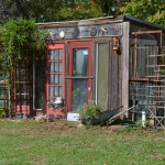 Shanty Chic for Eclectic Shed with Trellis
