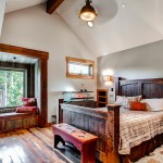 Shanty Chic for Rustic Bedroom with Ceiling Fan