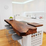 Shell Lumber for Contemporary Kitchen with Built in Wine Storage