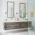 Shell Lumber for Transitional Bathroom with Double Sinks