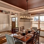 Sherwin Williams Amazing Gray for Traditional Dining Room with Panel Molding