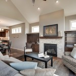 Sherwin Williams Amazing Gray for Transitional Living Room with Contemporary Style