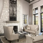Sherwin Williams Anew Gray for Transitional Living Room with Dark Floor