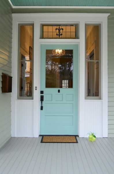 Sherwin Williams Deckscapes for Victorian Entry with Painted Ceiling