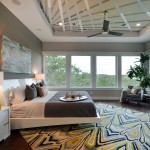 Sherwin Williams Dovetail for Contemporary Bedroom with White Molding