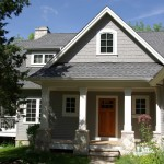 Sherwin Williams Dovetail for Traditional Exterior with Front Door