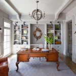 Sherwin Williams Dovetail for Traditional Home Office with Office Built Ins