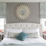 Sherwin Williams Dovetail for Transitional Bedroom with Roman Shades