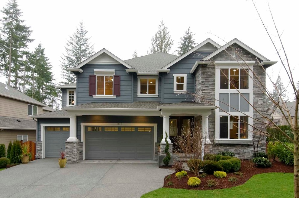 Sherwin Williams Seattle for Traditional Exterior with Double Hung Windows