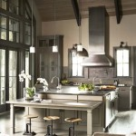 Sherwin Williams Stain Colors for Rustic Kitchen with Wood Beams