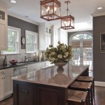 Sherwin Williams Stain Colors for Traditional Kitchen with Breakfast Bar