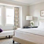 Sherwin Williams Stain Colors for Transitional Bedroom with Ceiling Mount Drapery Track
