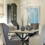 Sherwin Williams Visualizer for Beach Style Dining Room with Exposed Beams