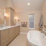 Showplace Wood Products for Transitional Bathroom with Carrara