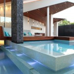 Sicis for Contemporary Pool with Wood Deck