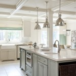 Silestone Lyra for Transitional Kitchen with Lantern