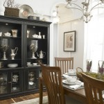Silver Legacy Buffet for Eclectic Dining Room with Black Hutch