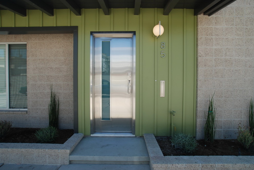 Slv Lighting for Midcentury Entry with House Number