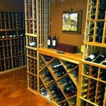 Snyder Diamond Santa Monica for Traditional Wine Cellar with Wine Display