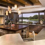 Southern Lights Mn for Rustic Kitchen with Dark Wood Cabinets