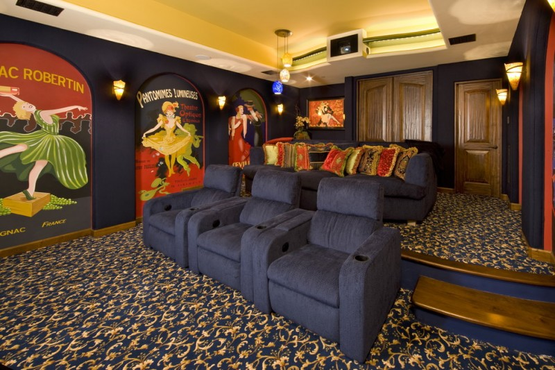 Southlake Movie Theater for Traditional Home Theater with Theater Design