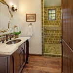 Spanish Trails Las Vegas for Mediterranean Bathroom with Wood Door