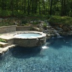 Spca New Orleans for Traditional Pool with Retaining Wall