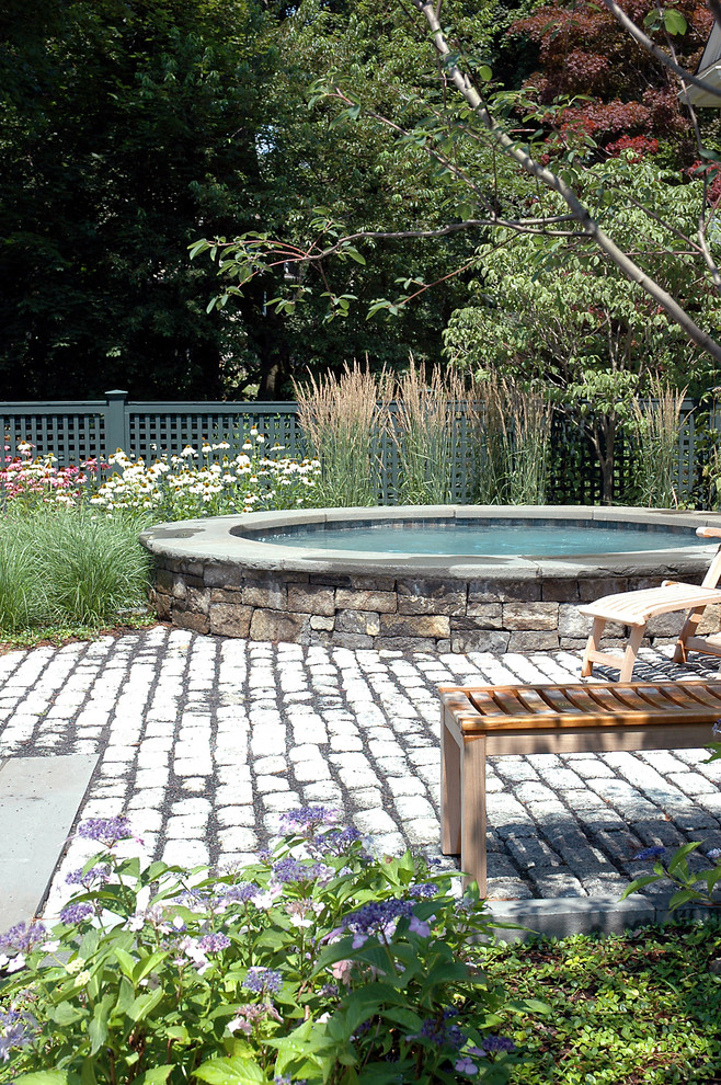 Spca New Orleans for Traditional Pool with Stone Walls